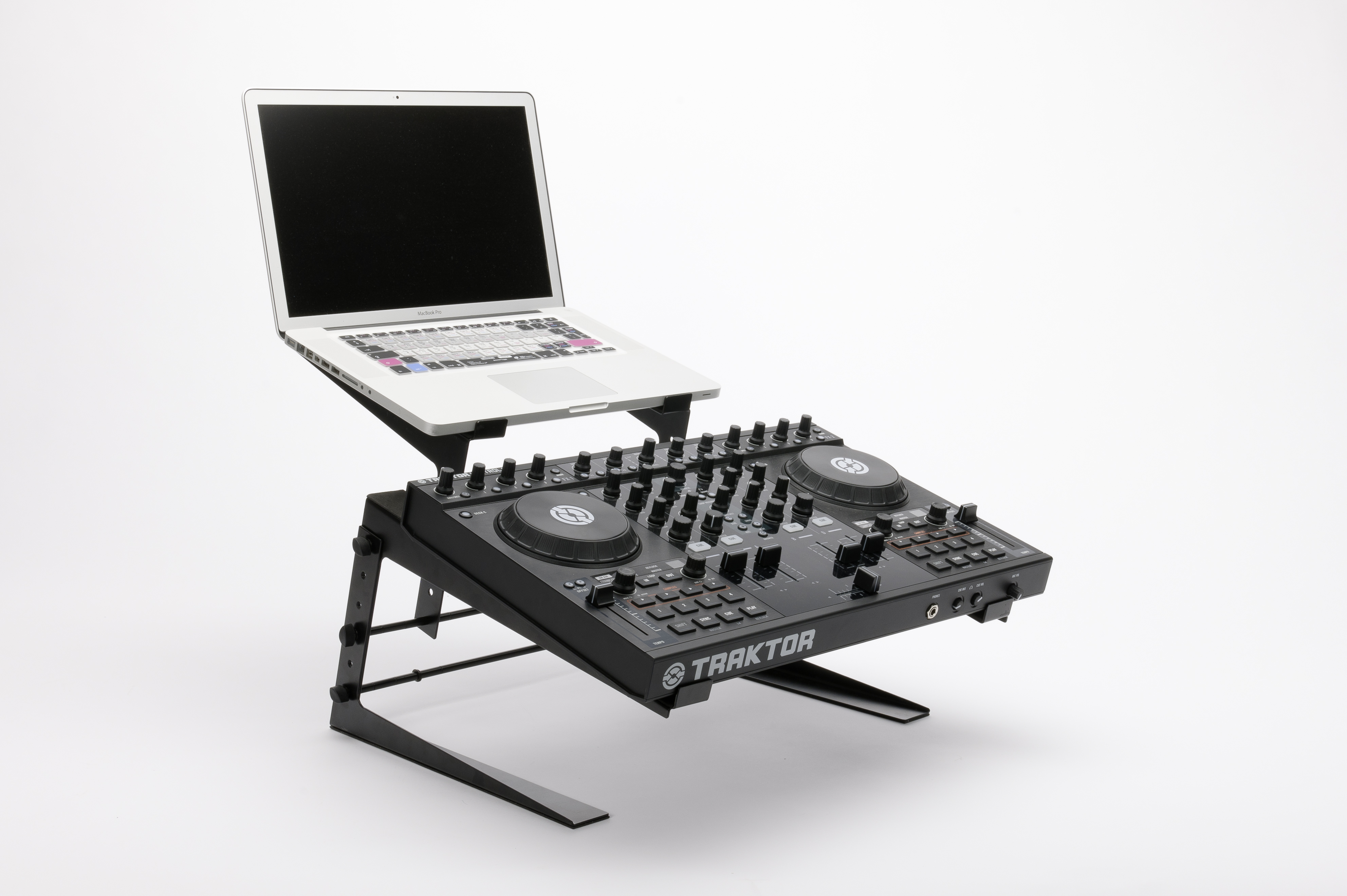 Designed for larger-sized DJ controllers plus a laptop of any size, the Magma Control Stand is a good solution for semi-permanent installation.
