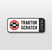 A 'Traktor Scratch Certified' sticker