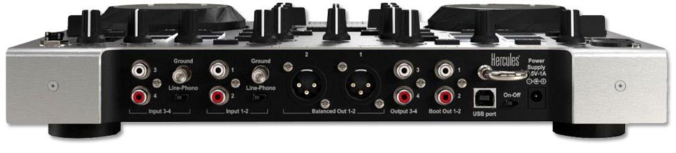 Hercules DJ Console RMX2 back panel