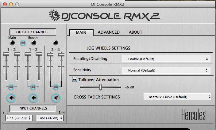 DJ Console RMX2 control panel