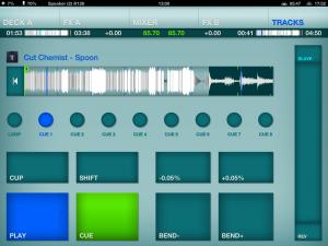 DJ Player deck screen