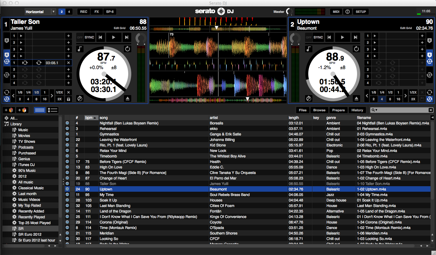 Serato DJ horizontal screen