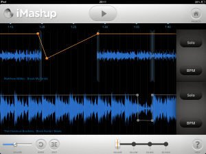 Detailed waveform view