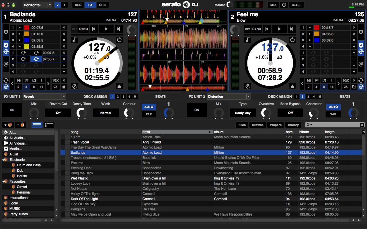 The Serato DJ software