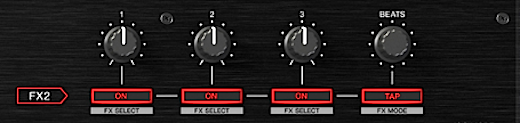 Pioneer DDJ-FX effects section