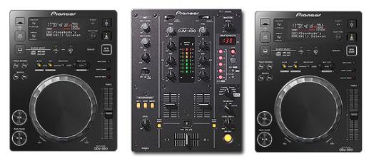 CDJ-350s and DJM-400