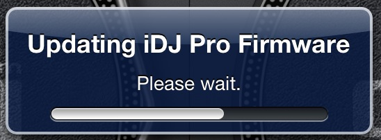 Firmware update to iDJ Pro
