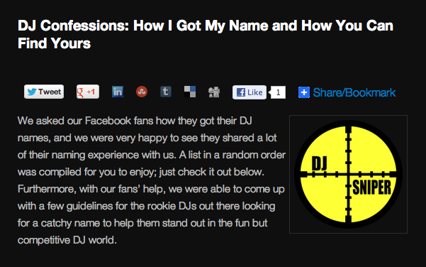 Chauvet Blog DJ Names List