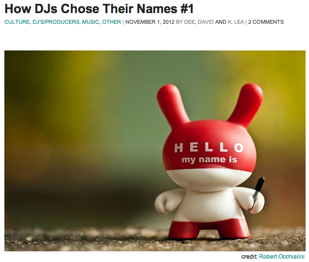 How DJs Chose Their Names