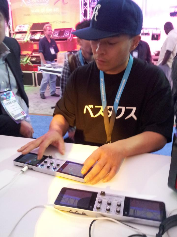 QBert trying out the PDJ at NAMM 2013
