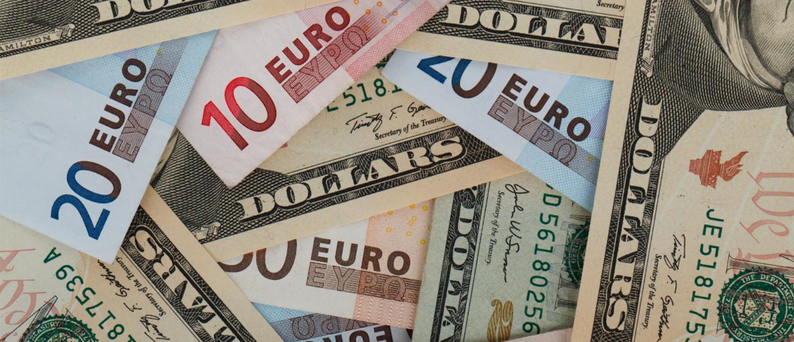 Why do euro prices seem to be the same as dollar prices, even though a euro is worth more than a dollar?