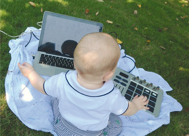 Babies are getting in on the DJ act, according to our headline piece from Vice this week. Pic: Natalie Elizabeth Weiss, via Vice
