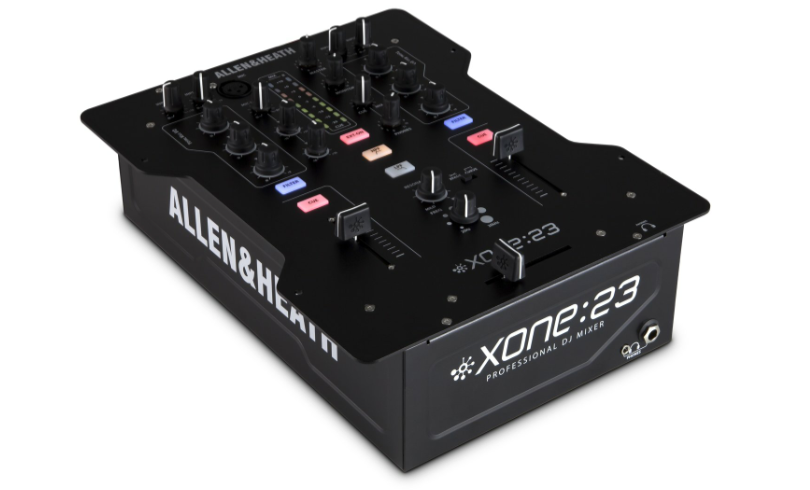 The Xone:23 is a no-frills 2-channel mixer from Allen & Heath.