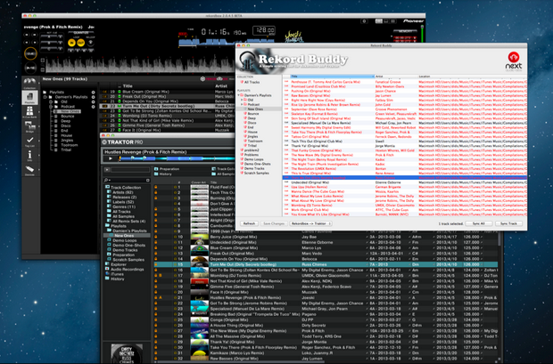 A Sync button pros won't complain about: all your track data get synced between Traktor and Rekordbox