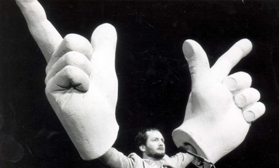 Wave your arms in the air like you just don't care... Kenny Everett shows how EDM Jesus poses should be done, unlike our hapless hero in the most bizarre DJ video we've seen for a while. Watch it below...