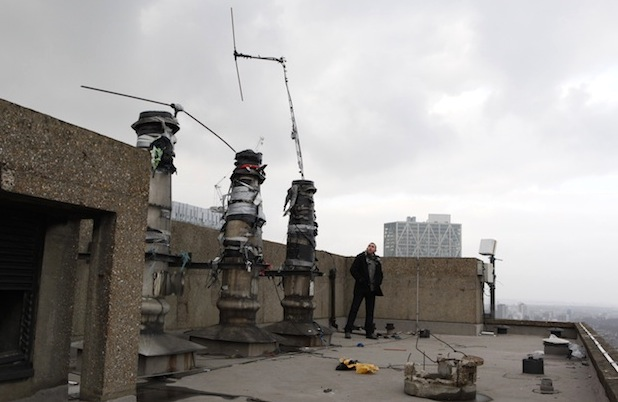 Setting up aerials on London tower blocks in the 80s: It was dangerous and illegal... but it's an example of making a scene for music that had no representation, in the best traditions of pirate radio, going back to Radio Luxembourg and Radio Caroline decades earlier.