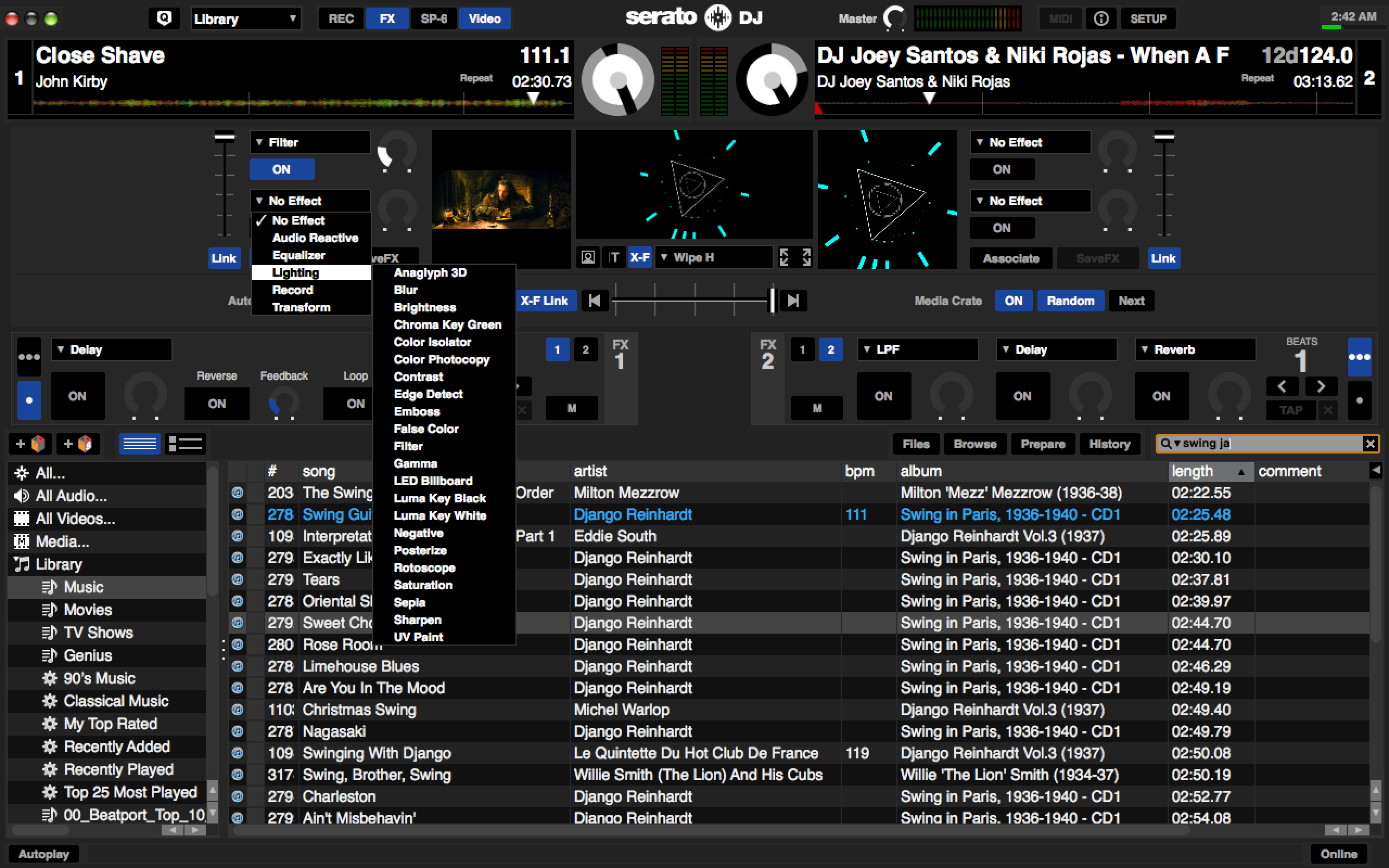 There are a ton of video deck and transition effects in Serato Video, all designed to gently modify or mangle your visuals as you see fit!