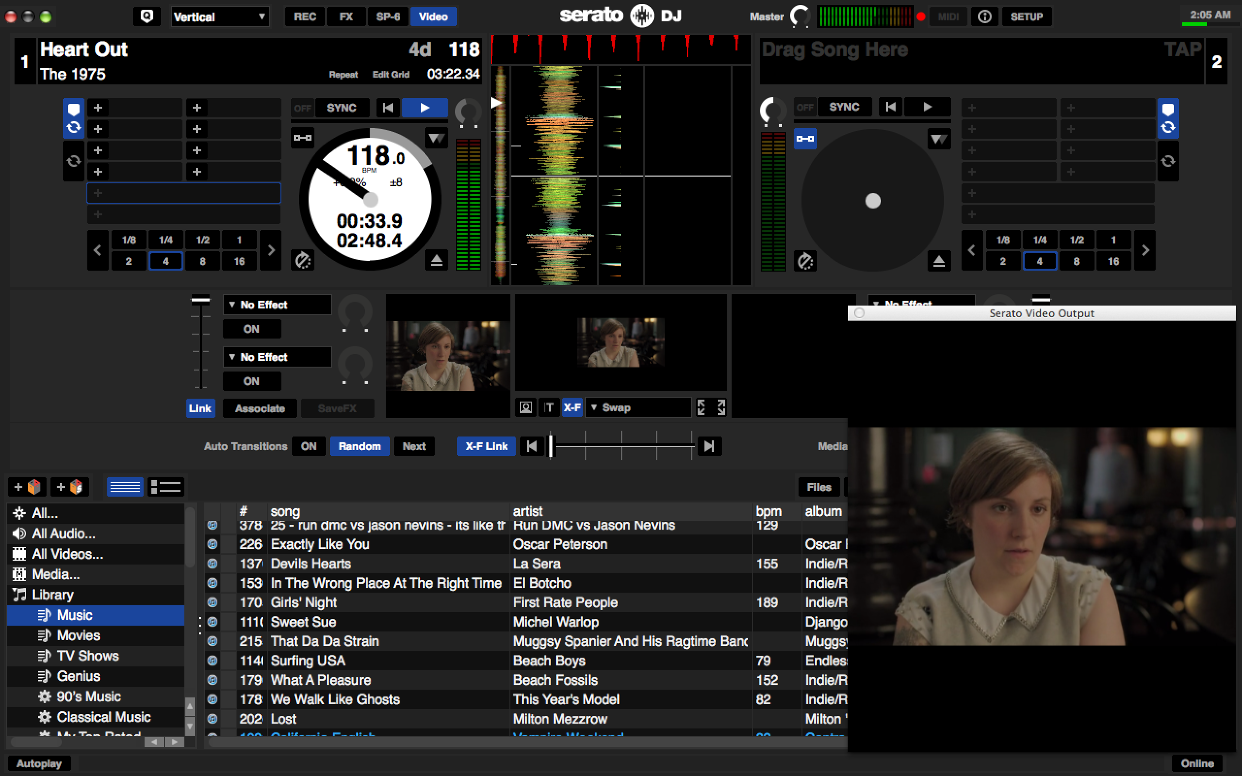 Serato Video appears in the middle of the main interface, so there's no switching between screens and other confusing workflow tweaks: It's still Serato through and through.