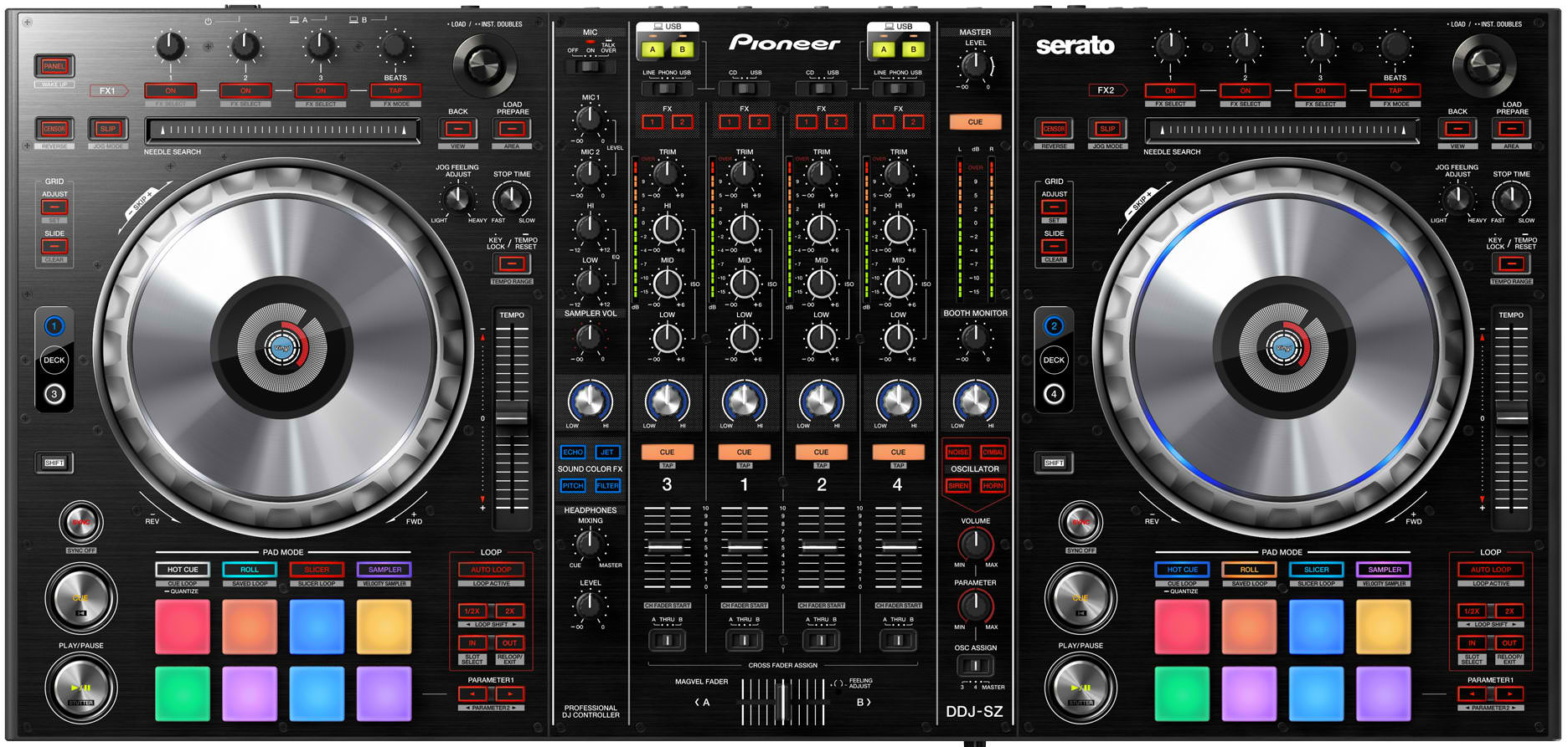 The Pioneer DDJ-SZ is the company's new flagship controller for Serato DJ, and has the potential to be Serato's coup de grâce.