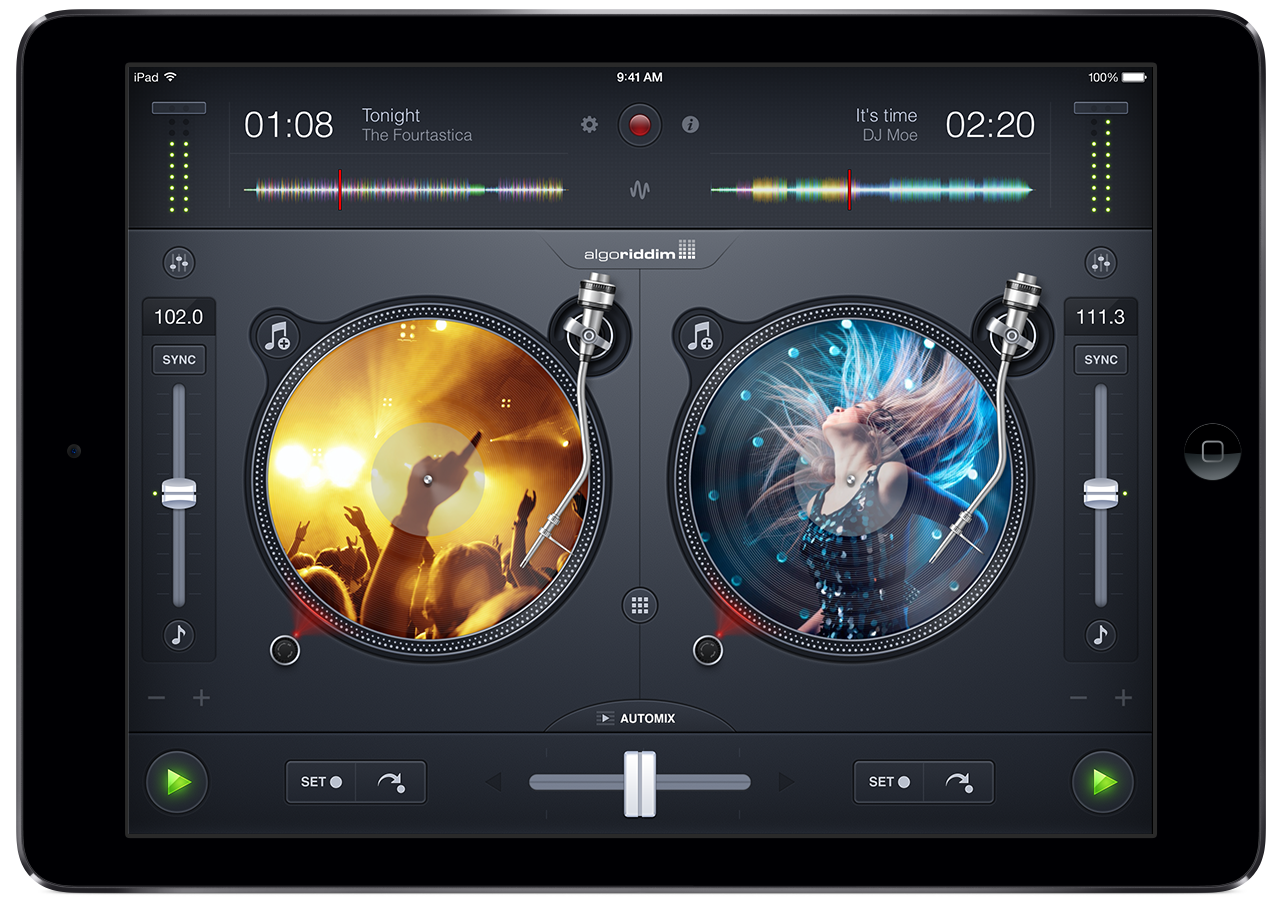The 'traditional' video of djay is instantly recognisable to anyone coming from vinyl - and it feels closer to vinyl than any other DJ software too, at least, any other DJ software on a touchscreen...