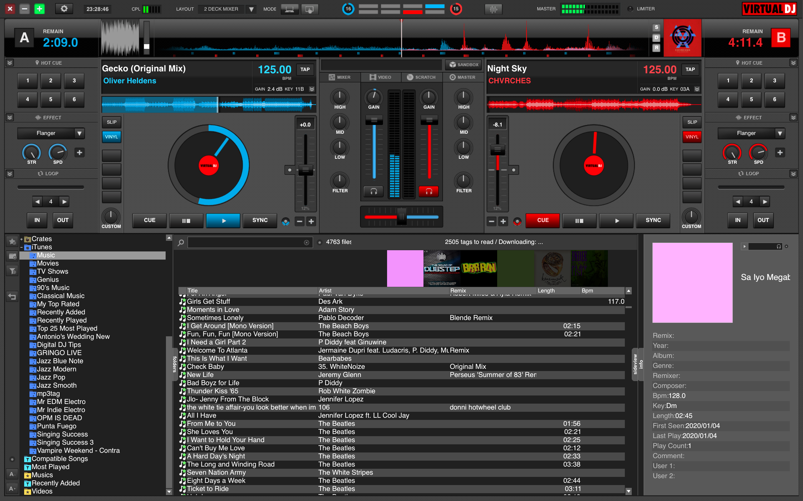 Virtual DJ 8 Interface