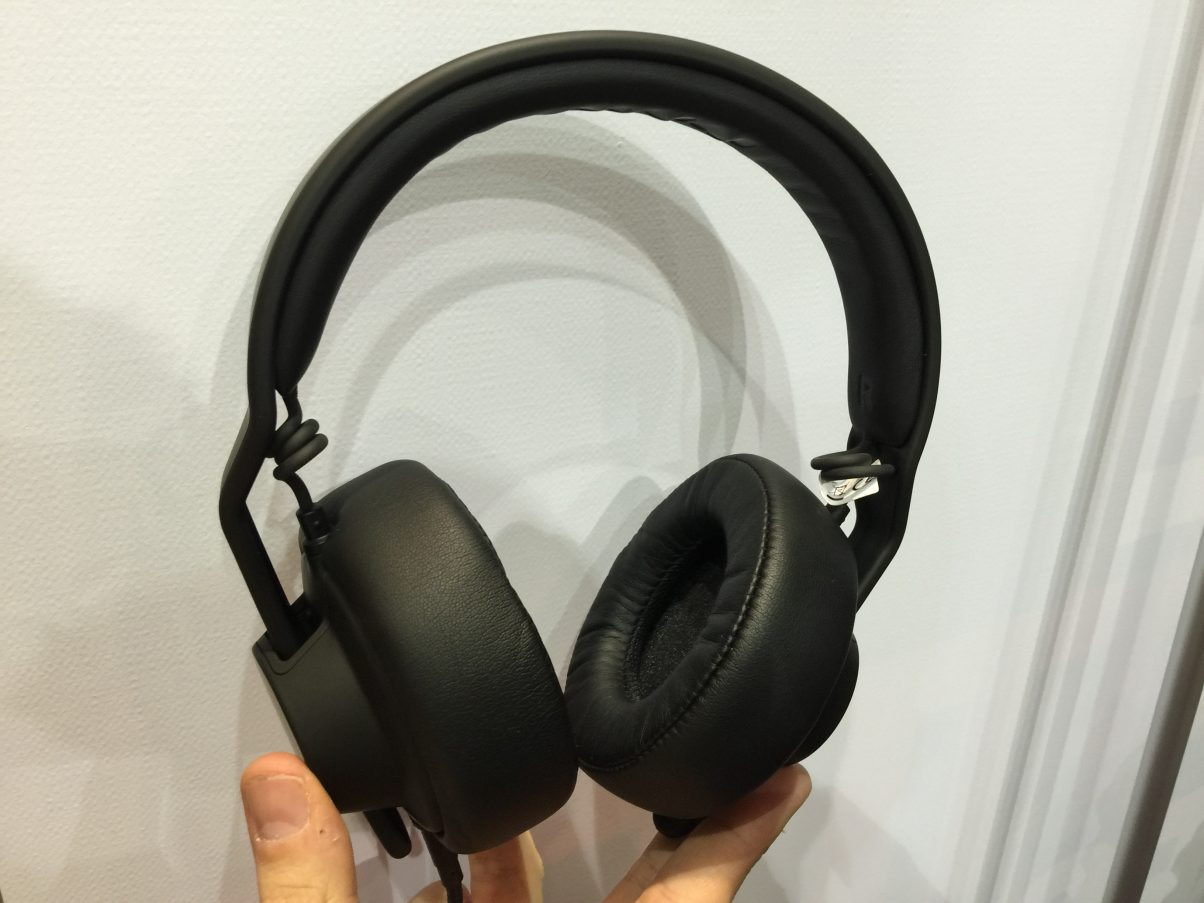 These headphones are different because they're totally modular and totally configurable. (They weren't actually at the show, but we found a pair to bring you!)