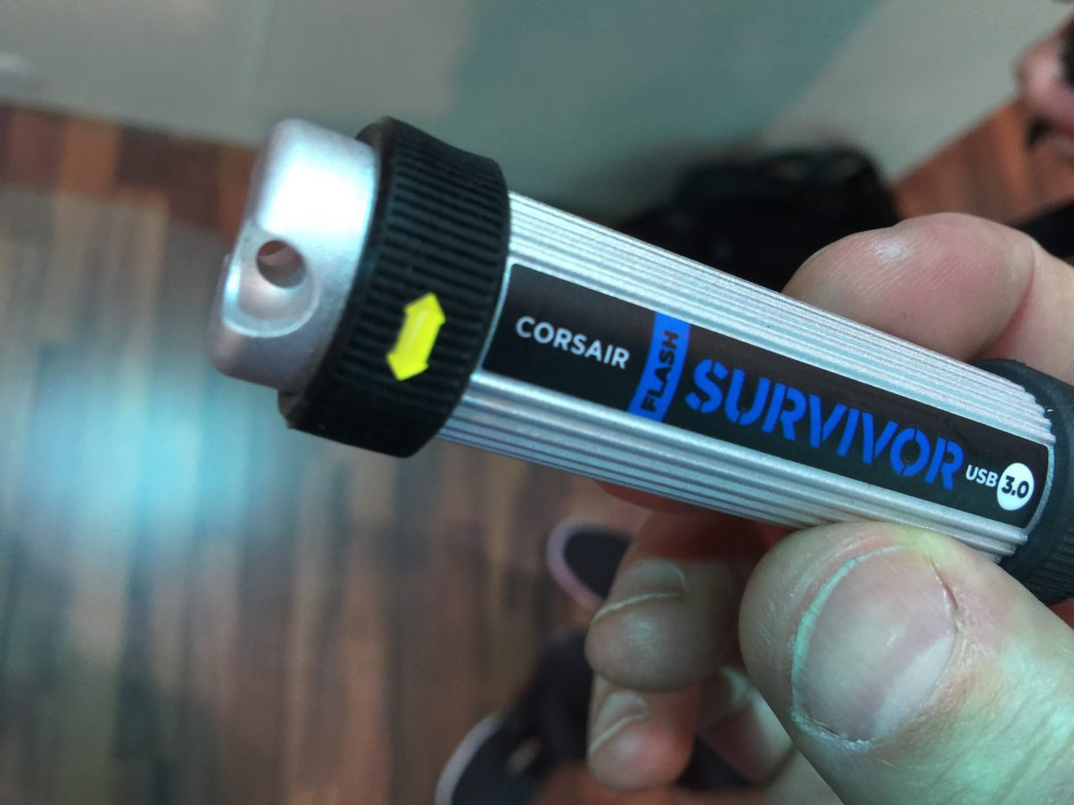 Not new for the show or anything like that, but if you want to know what USB drive the pro DJs are using, this is it - we saw these everywhere!