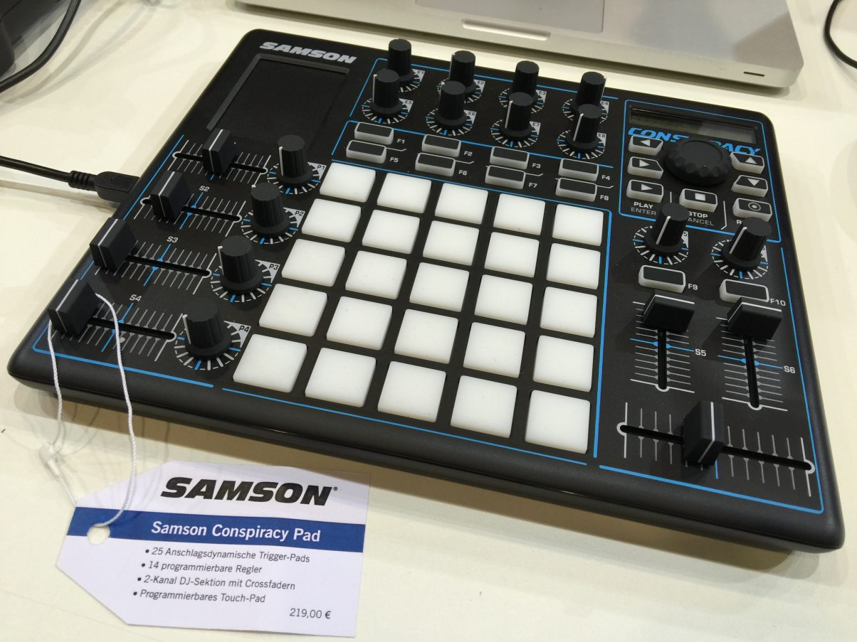 A small, neat little Ableton Live controller, DJ-centric including a crossfader, from Samson.
