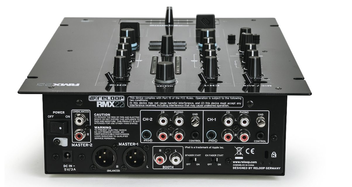 Reloop RMX22i Rear