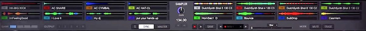 The sampler which appears to be pretty advanced, resembling the SP6 sampler in Serato DJ.