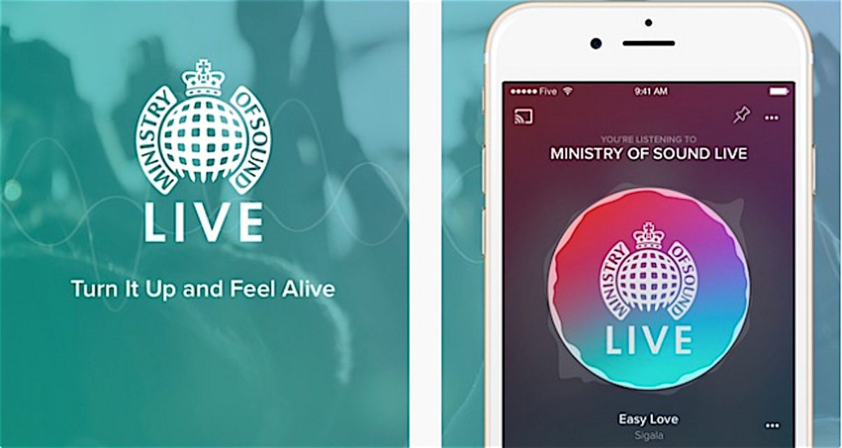 Ministry Of Sound Releases Free Music Streaming & Radio App