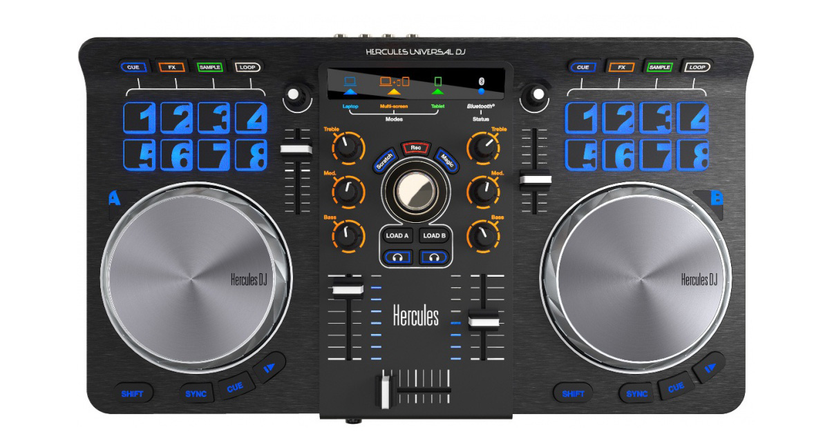 hercules universal dj controller review digital dj tips. Black Bedroom Furniture Sets. Home Design Ideas