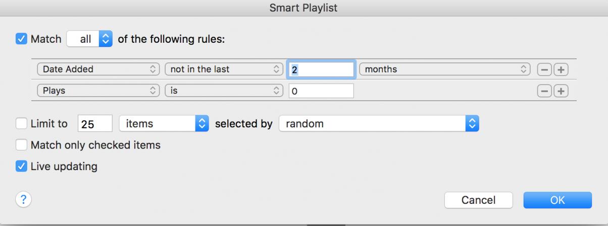 Smart Playlist 7
