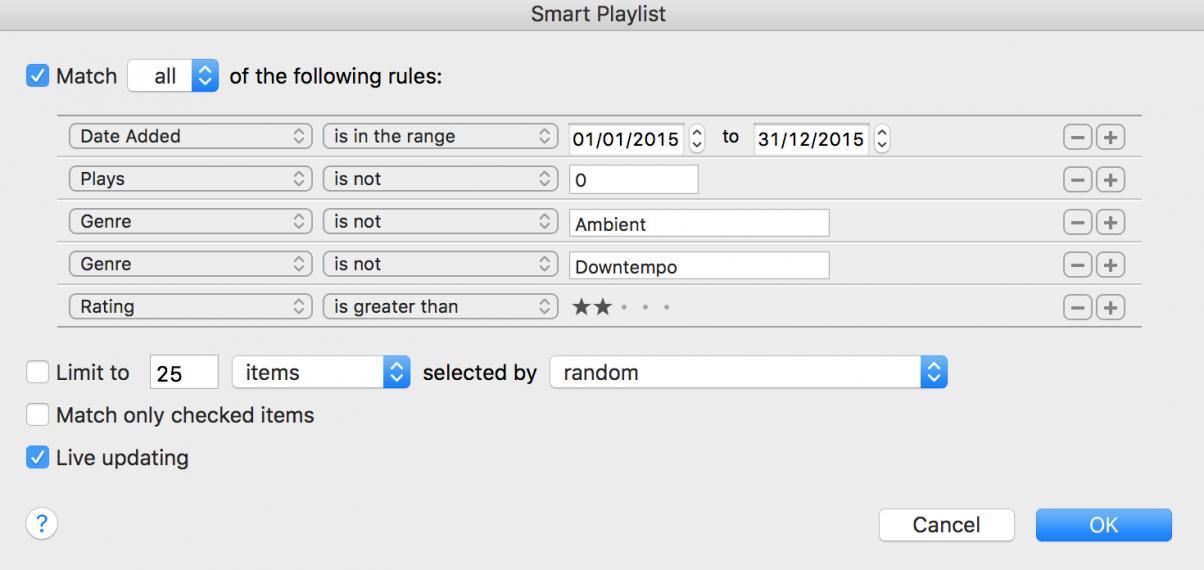 Smart Playlist 6