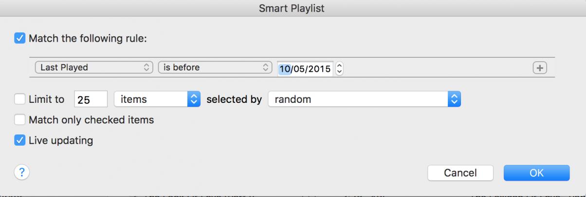 Smart Playlist 1