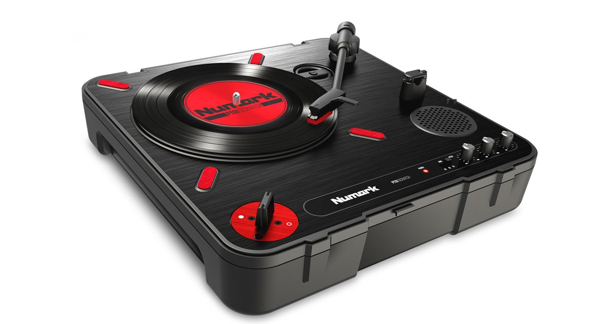 Numark just unveiled its brand new PT01 Scratch portable turntable here at DJ Expo 2016.