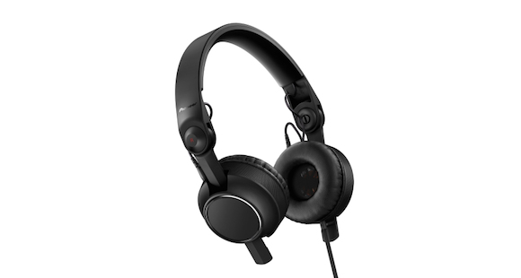 The HDJ-C70 is Pioneer's first on-ear headphone, for DJs who prefer this more compact style.
