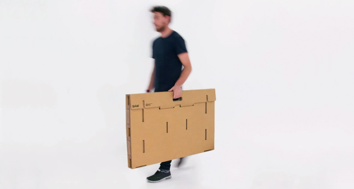 Refold Is A Portable Standing Desk Made Entirely Of Cardboard Thatu0027s Sturdy  Enough To Hold Your Entire DJ Set Up.