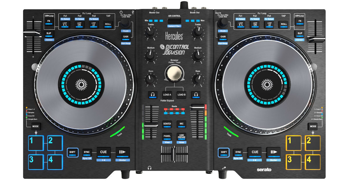 IS THE HERCULES DJ AIR COMPATIBLE WITH SERATO