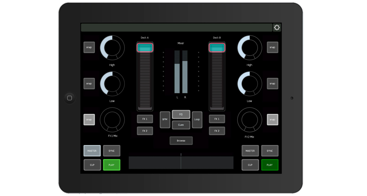 mixer traktor template for ios android gets overhaul. Black Bedroom Furniture Sets. Home Design Ideas
