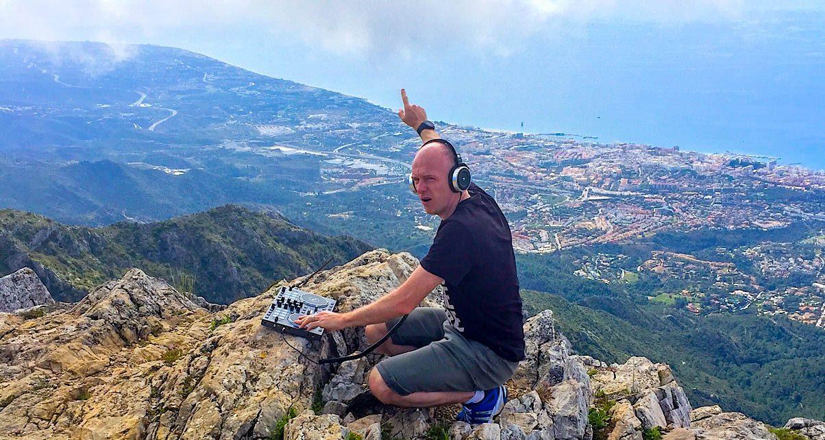 Steve on a mountain