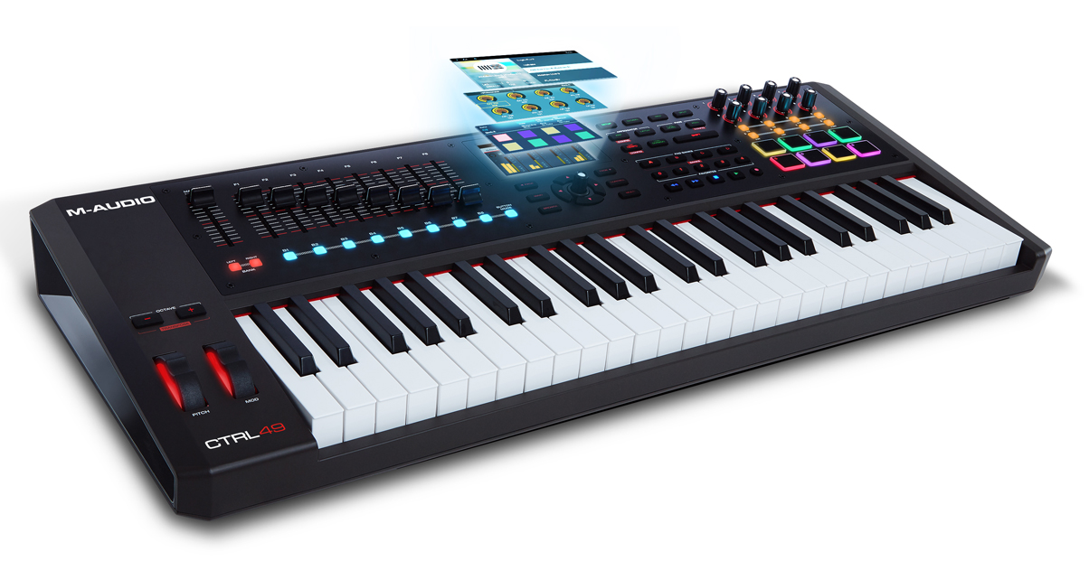 m audio ctrl49 keyboard controller launched. Black Bedroom Furniture Sets. Home Design Ideas