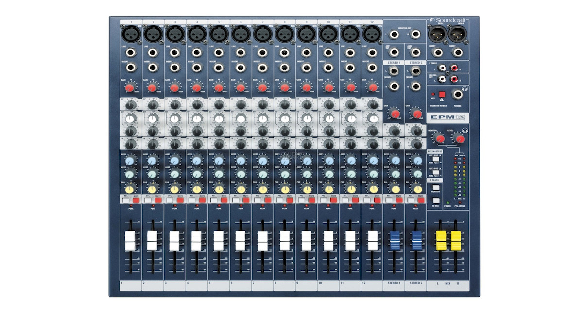 There are loads of inputs on a mixing desk. If you are not sure how to connect your equipment to it, ask!