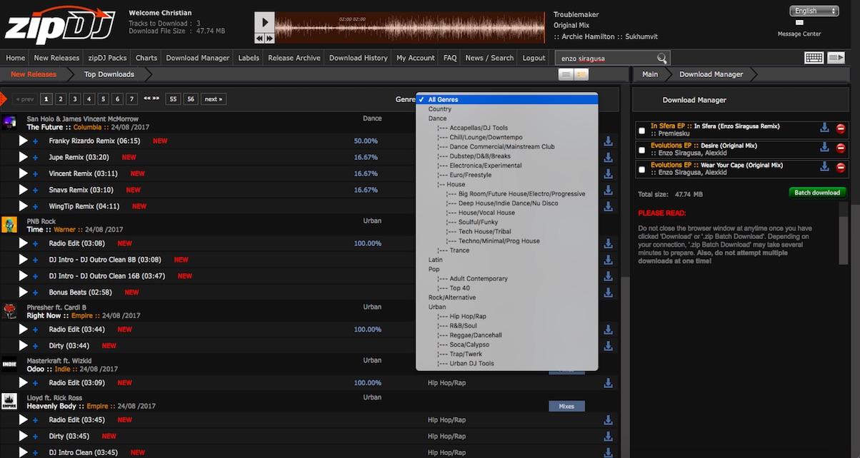 zipDJ Online Record Pool Review - Digital DJ Tips
