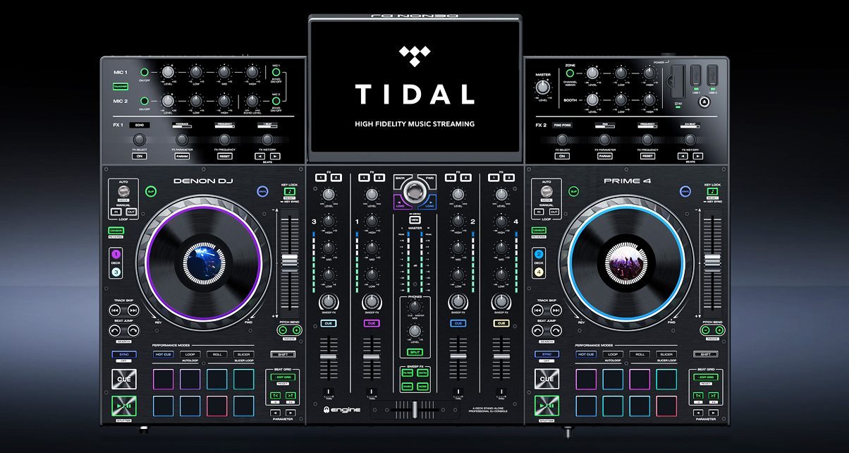 You Can Now Stream Music From TIDAL On The Denon DJ Prime 4