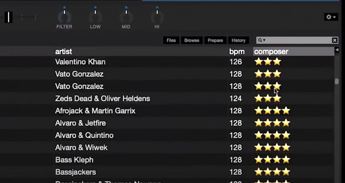 Serato DJ pro star ratings
