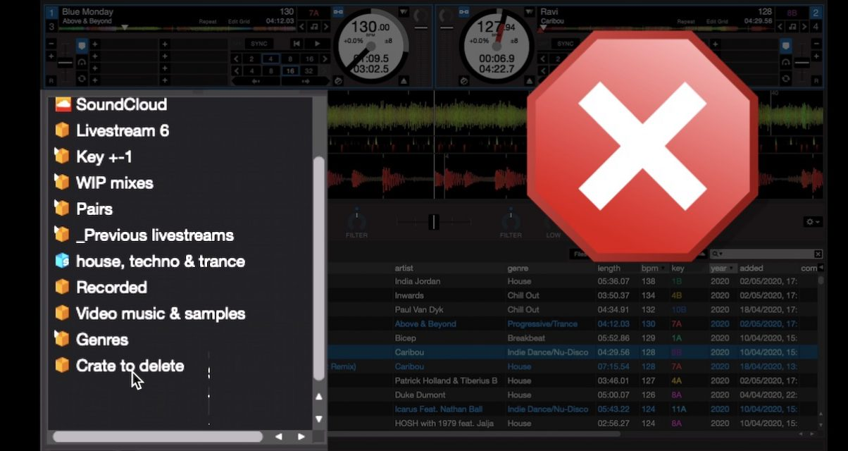 Serato deleted crate