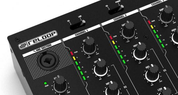 Reloop mixer mic input