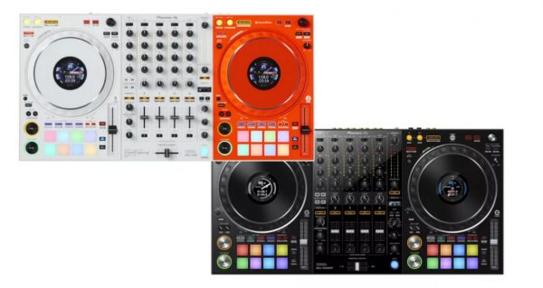 Picture of DDJ-1000-OW and regular DDJ-1000 side by side