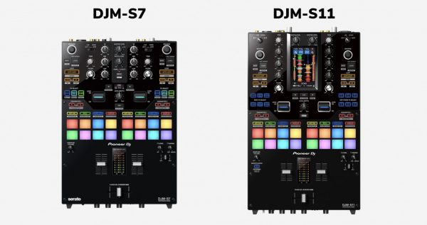 DJM-S7 and DJM-S11 size compared